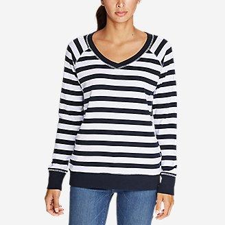 Thumbnail View 3 - Women's Legend Wash V-Neck Sweatshirt - Stripe