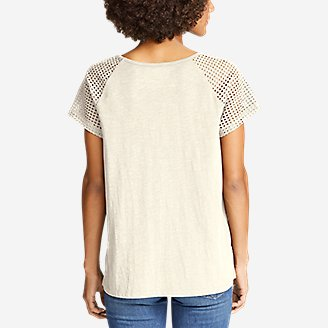Thumbnail View 2 - Women's Lola Short-Sleeve Eyelet Top