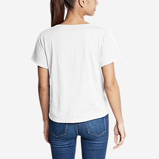 Thumbnail View 2 - Women's Legend Wash Slub Short-Sleeve Easy Crew T-Shirt