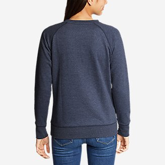 Thumbnail View 2 - Women's Camp Fleece Pullover Crew - USA