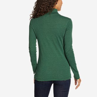 Thumbnail View 2 - Women's Favorite Long-Sleeve Turtleneck - Solid