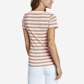 Thumbnail View 2 - Women's Favorite Short-Sleeve V-Neck T-Shirt - Stripe