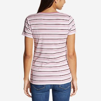 Thumbnail View 3 - Women's Favorite Short-Sleeve V-Neck T-Shirt - Stripe