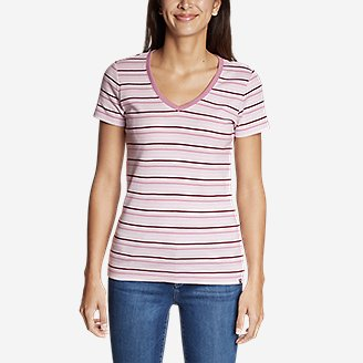 Thumbnail View 2 - Women's Favorite Short-Sleeve V-Neck T-Shirt - Stripe