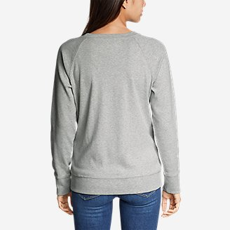 Thumbnail View 2 - Women's Legend Wash Crew Sweatshirt - USA Stripe