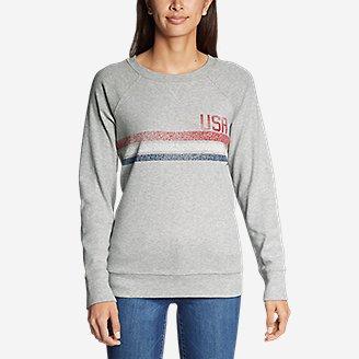 Thumbnail View 3 - Women's Legend Wash Crew Sweatshirt - USA Stripe
