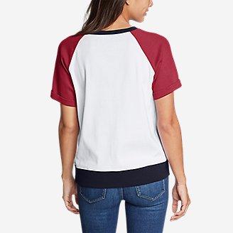 Thumbnail View 2 - Women's Legend Wash Short-Sleeve Sweatshirt - Colorblock