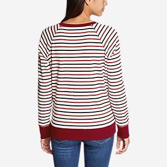 Thumbnail View 2 - Women's Legend Wash Crew Sweatshirt - Americana Stripe