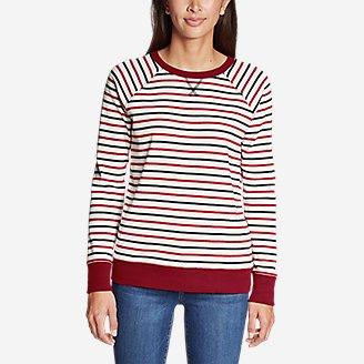 Thumbnail View 3 - Women's Legend Wash Crew Sweatshirt - Americana Stripe