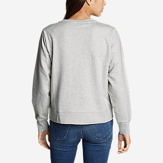 Thumbnail View 2 - Women's Camp Fleece Logo Crewneck Sweatshirt - Easy