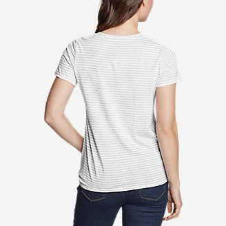 Thumbnail View 2 - Women's Gate Check Short-Sleeve Side-Tie T-Shirt - Stripe