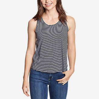 Thumbnail View 2 - Women's Gate Check Twist-Back Tank Top - Stripe