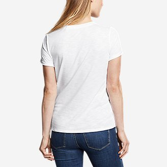 Thumbnail View 2 - Women's Gate Check Short-Sleeve Twist-Front T-Shirt