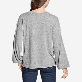 Thumbnail View 2 - Women's Long-Sleeve Knotted-Front Shirt