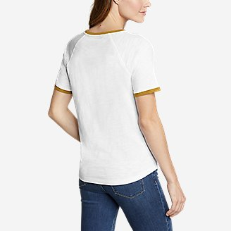 Thumbnail View 2 - Women's Legend Wash Short-Sleeve Color-Block T-Shirt