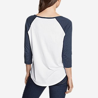 Thumbnail View 2 - Women's Americana 3/4-Sleeve Baseball T-Shirt