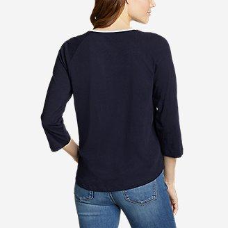 Thumbnail View 2 - Women's Legend Wash 3/4-Sleeve Color-Block T-Shirt
