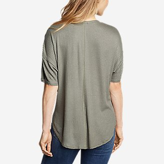 Thumbnail View 2 - Women's Thermal Tie-Front T-Shirt