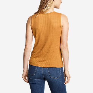 Thumbnail View 2 - Women's Thermal Tie-Front Tank Top