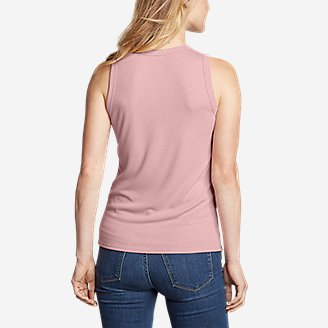 Thumbnail View 2 - Women's Ribbed Tank Top - Solid