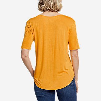 Thumbnail View 2 - Women's Soft Layer  Notch-Neck T-Shirt