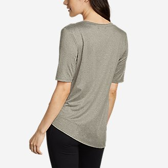 Thumbnail View 2 - Women's 3/4-Sleeve Side-Tie Top