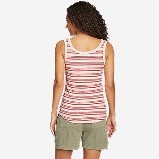 Thumbnail View 2 - Women's Favorite Henley Tank Top - Stripe