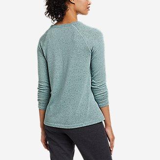 Thumbnail View 2 - Women's Mixed-Stitch Long-Sleeve V-Neck T-Shirt