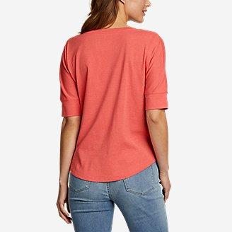 Thumbnail View 2 - Women's Favorite Short-Sleeve V-Neck Easy T-Shirt