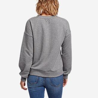 Thumbnail View 2 - Women's Cozy Camp Puff-Sleeve Sweatshirt