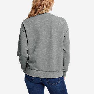 Thumbnail View 2 - Women's Cozy Camp Crewneck Sweatshirt - Print