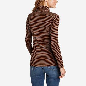 Thumbnail View 2 - Women's Favorite Long-Sleeve Turtleneck - Stripe
