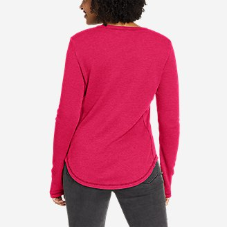 Thumbnail View 2 - Women's Myriad Thermal-Jersey Mix Henley