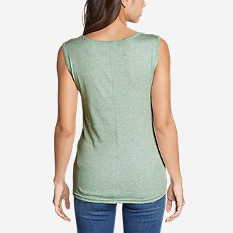 Thumbnail View 2 - Women's Favorite Sleeveless Bateau Top