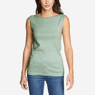 Thumbnail View 3 - Women's Favorite Sleeveless Bateau Top