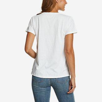 Thumbnail View 2 - Women's Graphic T-Shirt - Chest Stripe