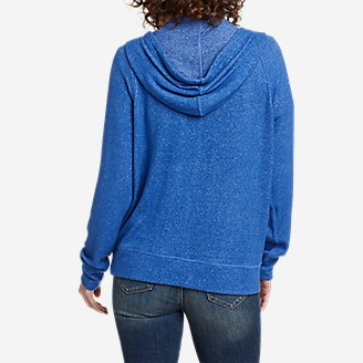 Thumbnail View 2 - Women's Brushed Jersey V-Neck Hoodie