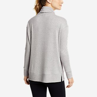 Thumbnail View 2 - Women's Mixed-Stitch Long-Sleeve Funnel-Neck
