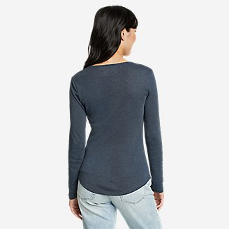 Thumbnail View 2 - Women's Favorite Long-Sleeve Henley T-Shirt