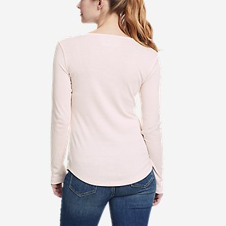 Thumbnail View 2 - Women's Favorite Long-Sleeve Henley T-Shirt