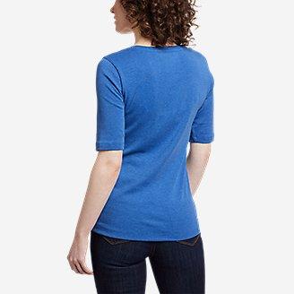 Thumbnail View 2 - Women's Favorite Elbow-Sleeve T-Shirt