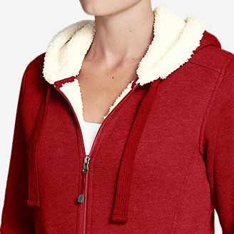 Thumbnail View 3 - Women's Cabin Fleece Sherpa Hoodie