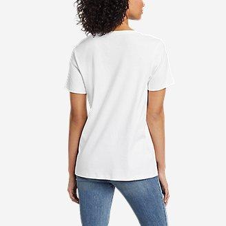 Thumbnail View 2 - Women's Favorite Short-Sleeve Notch-Neck T-Shirt
