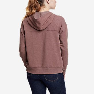 Thumbnail View 2 - Women's Cozy Camp Front Lace-Up Sweatshirt