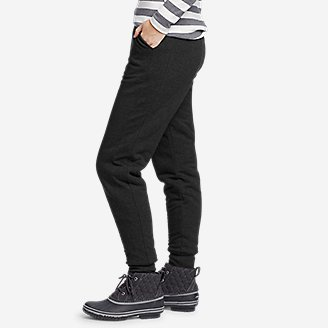 Thumbnail View 3 - Women's Snow Lodge Sherpa-Lined Jogger Pants
