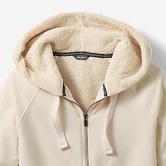 Thumbnail View 3 - Women's Snow Lodge Sherpa-Lined Full-Zip Sweatshirt