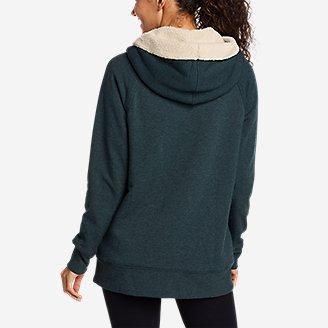 Thumbnail View 2 - Women's Snow Lodge Sherpa-Lined Full-Zip Sweatshirt
