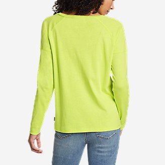 Thumbnail View 2 - Women's Favorite Long-Sleeve Raglan Crew T-Shirt