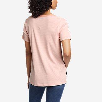 Thumbnail View 2 - Women's Favorite Short-Sleeve Notch-Neck T-Shirt - Stripe