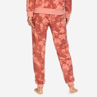 Thumbnail View 2 - Women's Cozy Camp Fleece Jogger Pants - Print